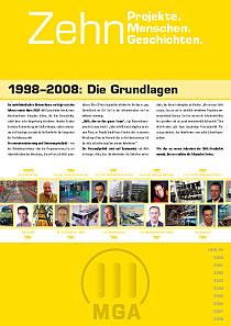 MGA-Broschüre – Innenseite mit Register