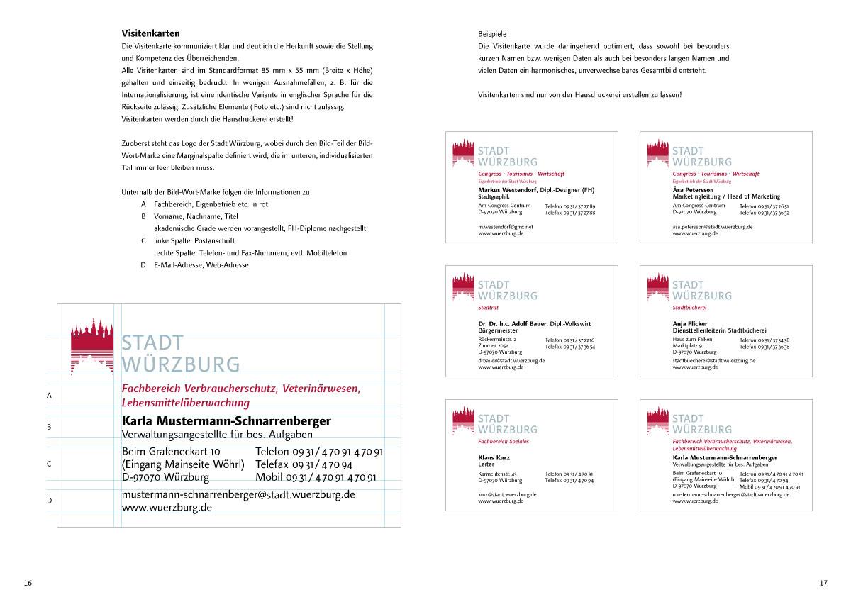 Kleinhenzgrafischesbuero Stadt Würzburg Corporate Design