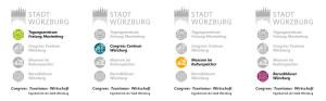 CTW-Medien: Logos der 4 Tagungshäuser mit Farbklima und einheitlicher Systematik